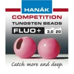 Tungsten beads fluo pink