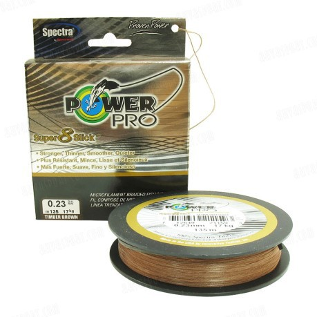 Power Pro Super 8 Slick 135 m Timber Brown
