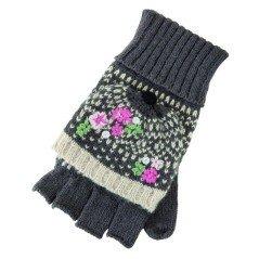 I guanti in lana aperti fantasia