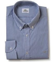 Camicia Bastoncino Lacoste bianco blu
