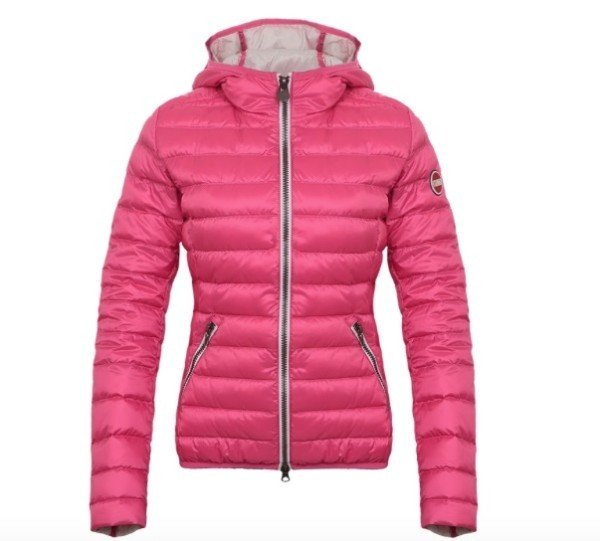 Piumino leggero donna piuma light cappuccio colore rosa colmar originals - Piumino letto leggero ...