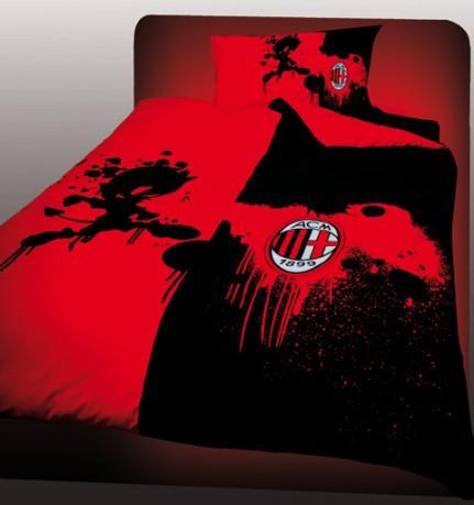 Copripiumino Milan Singolo.Copripiumino Singolo Milan Colore Red Black Uniontex Sportit Com
