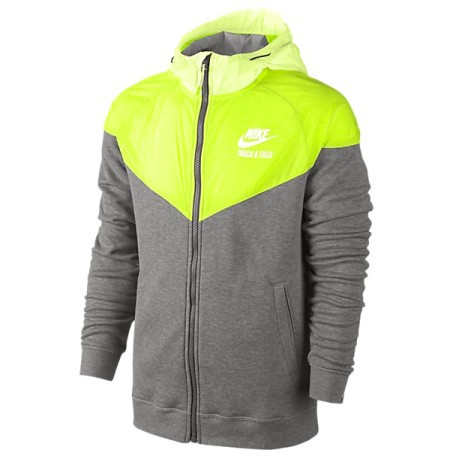 Felpa  Track And Field Woven Mix Full Zip