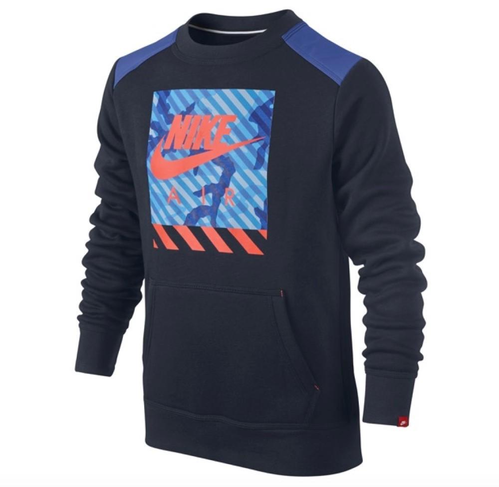 save off dd9f4 c118e Nike Felpa Ragazzo Camo ft Crew Youth Felpe Abbigliamento Bambino  645560-451 S