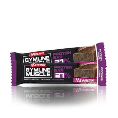 Barretta gymline muscle protein bar 27% gianduia