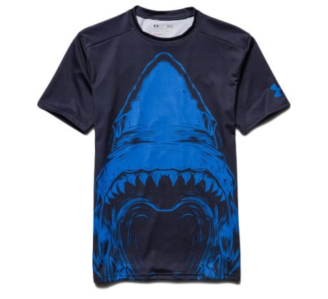 T-shirt beast compression shark uomo