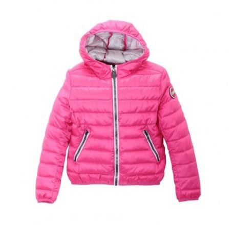 Piumino colmar originals vera piuma extra , rosa per bambina. art 3448