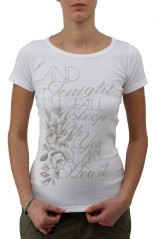 T-shirt Deha donna costina bianco
