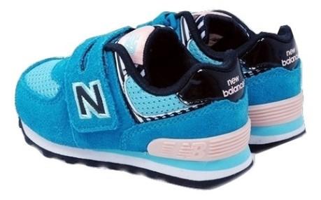 new balance 574 bambino azzurre