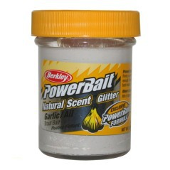 Berkley Powerbait Natural Scent Glitter Garlic Spring verde