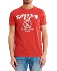T-shirt logo scorpion bay ring rossa