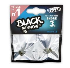 Fiiish Testa piombata Shore 3 g Black Minnow