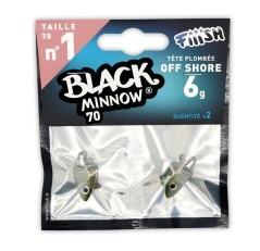 Fiiish Testa piombata Offshore 6 g Black Minnow