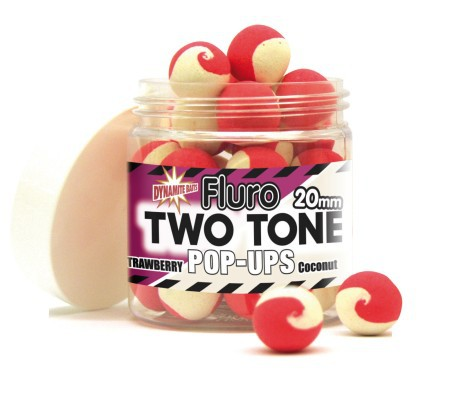 Pop ups two tone strawberry-coconut 15 mm