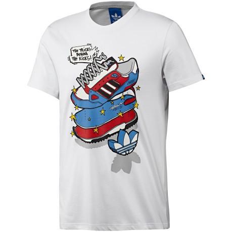 adidas t shirt cotone