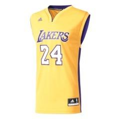 Canotta da basket per uomo NBA Lakers Bryant Adidas, replica ufficiale
