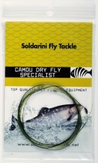 Soldarini Camou Leader Knotted Dry Fly Specialist 15 ft