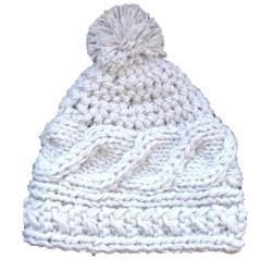 Berretto di lana Polartec Marini Silvano con treccia e pompon