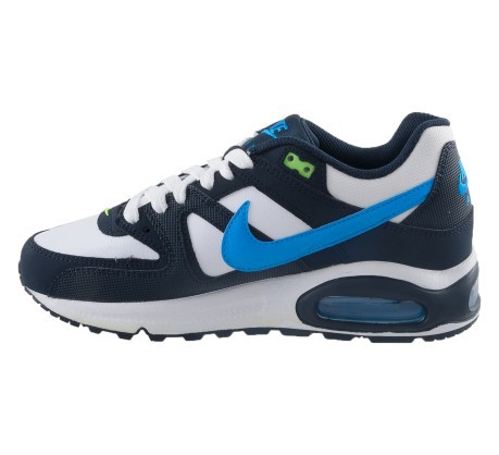 Baby shoes Nike Air Max Command GS colore White Blue - Nike ... 6e999f1493d