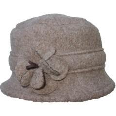 Cappello in lana cotta con fiore Marini Silvano