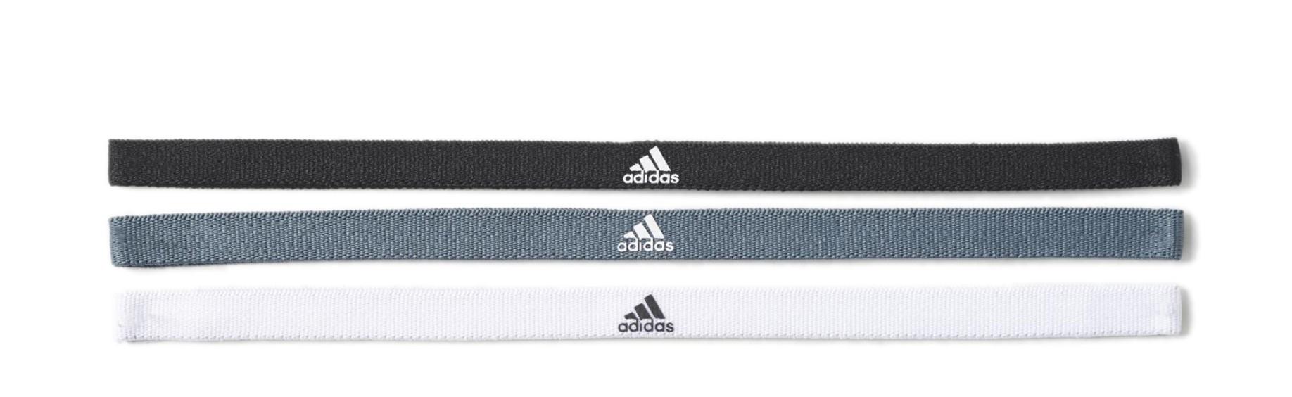 Fasce per capelli Adidas 3 pezzi colore Nero Bianco - Adidas - SportIT.com bc5451780727