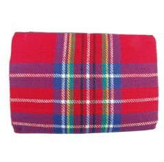 Coperta scozzese per pic nic Kunzi fantasia rosso