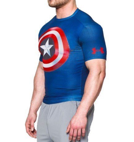T-shirt uomo Captain American 2.0 compression
