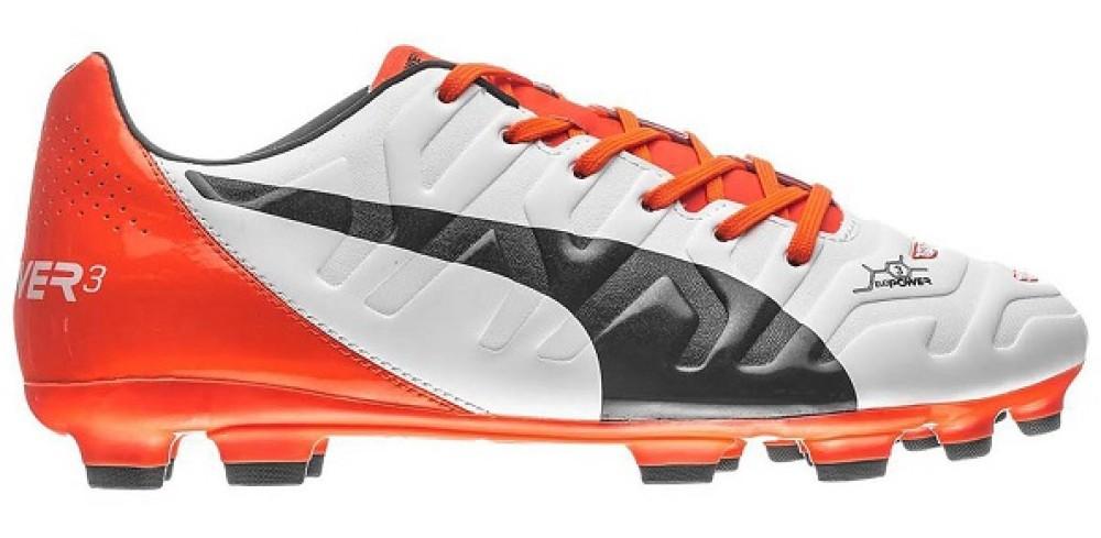 zapatos da Calcio Puma EvoPower 1.2 FG Puma bianche arancio