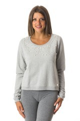 Hoody Ladies Stretch Crew Neck