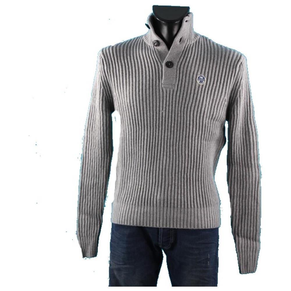 Olivier Grey Uomo 3 Cotton North Wool Colore Bottoni Maglione g5Sq0Tn0