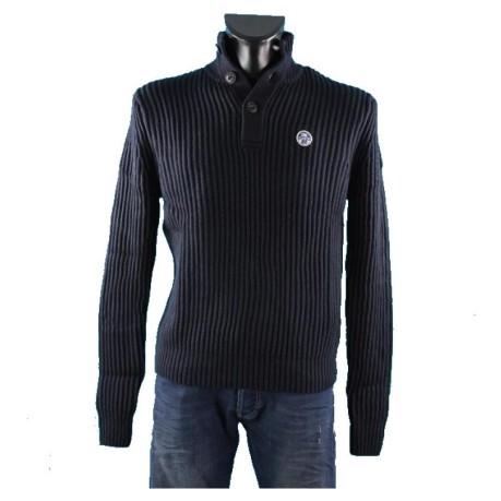 Bottoni Colore Maglione Olivier Uomo Wool Sails Blu 3 Cotton North B6XSfwq