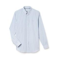 Camicia uomo riga grossa blu-azzurro