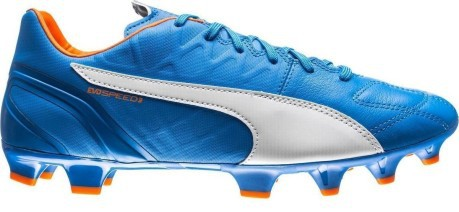 Puma Football boots EvoSpeed 3.4 Lth FG colore Blue - Puma - SportIT.com 2c8dae938338