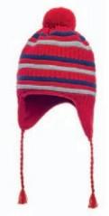 Cappello bambino peruviano rosso e grigio