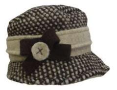 Cappello donna Lana Cotta beige e marrone
