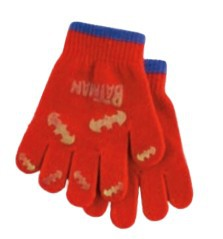 Gloves child Batman red and blue