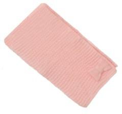 Sciarpa bambina con fiocco rosa