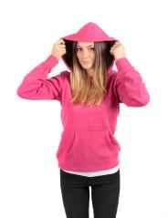 Felpa  Heritage Chiusa Con Cappuccio rosa