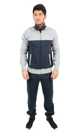 Tuta Uomo Sweat Suit Fleece grigio blu