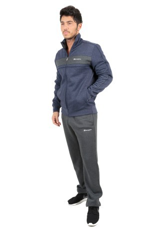 Tuta Uomo Sweat Suit Fall Fleece blu grigio