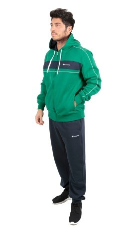 Tuta Uomo Sweat Suit Flece Full Zip verde blu