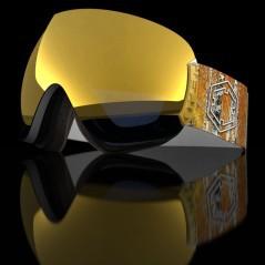 Maschera Open Forest Gold bianco-giallo