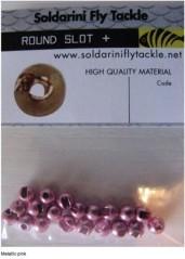 Testine Tungsteno Slot Round rosa