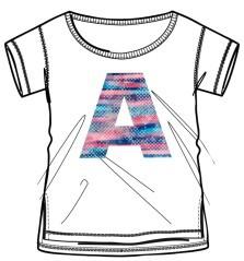 T-shirt Bambina Lpk Girl Tee bianco
