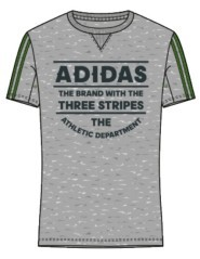 T-Shirt Uomo Adidas LPM grigio verde