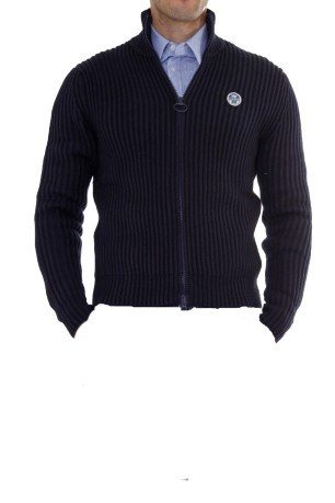 Maglione Uomo Ted 029 Wool Cotton blu