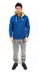 Tuta Uomo Stretch Frenc Fleece azzurro grigio