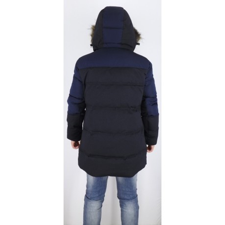 Piumino Lungo Mountain Fur Down blu