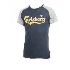 T-Shirt da Uomo Bicolor Raglan blu grigio