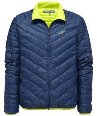 Piumino uomo Gander Light blu-giallo